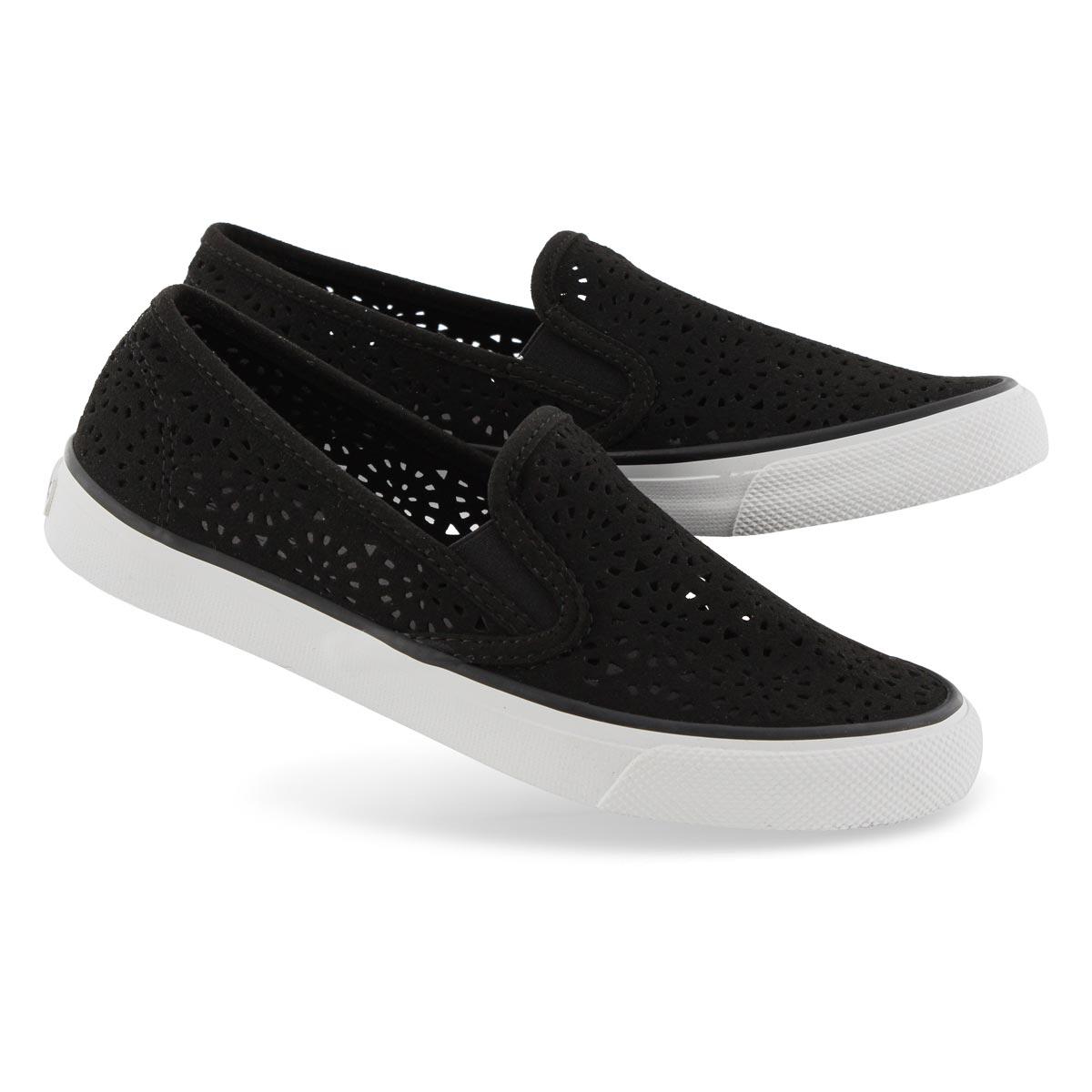 Lds Seaside Perf black slip on loafers