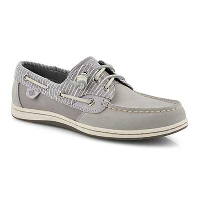 Lds Songfish Stripe grey boat shoe
