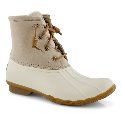 Lds Saltwater ivory rain boot