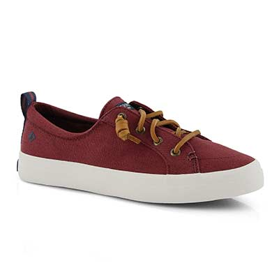Lds Crest Vibe oxblood slip on sneaker
