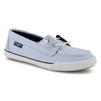 Lds Lounge Away Chambray blue boat shoe