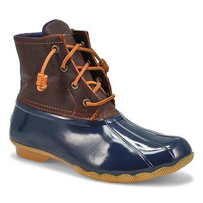 Lds Saltwater Core tan/nvy low rain boot