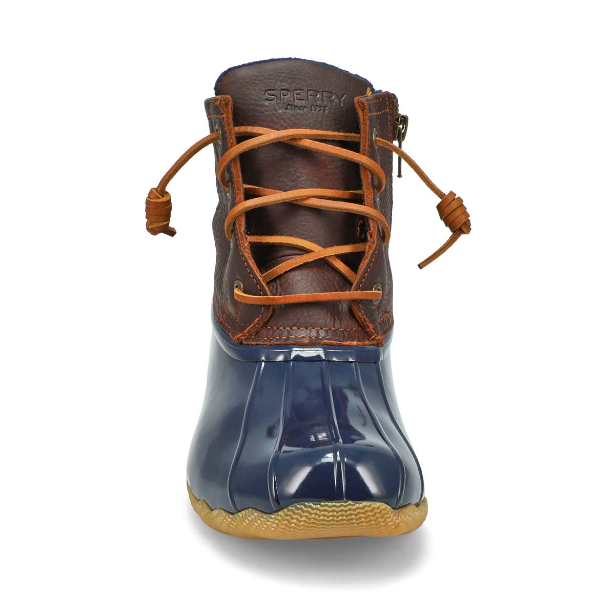 Lds Saltwater Core tan/nvy low rain boot