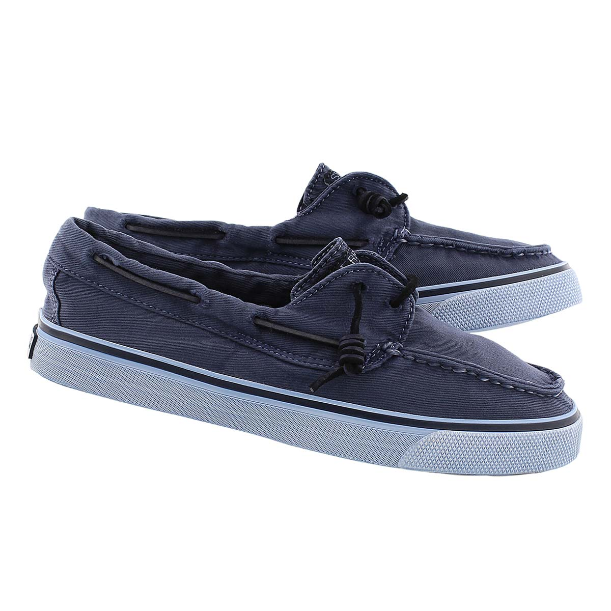 Lds Bahama Washed navy boat shoe