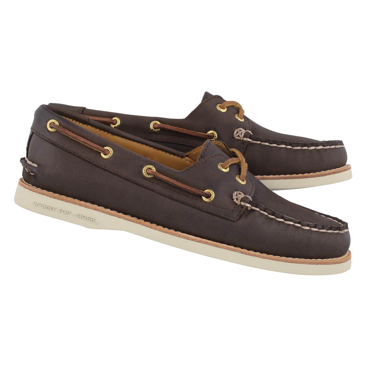 Lds Gold Cup A/O brown boat shoe