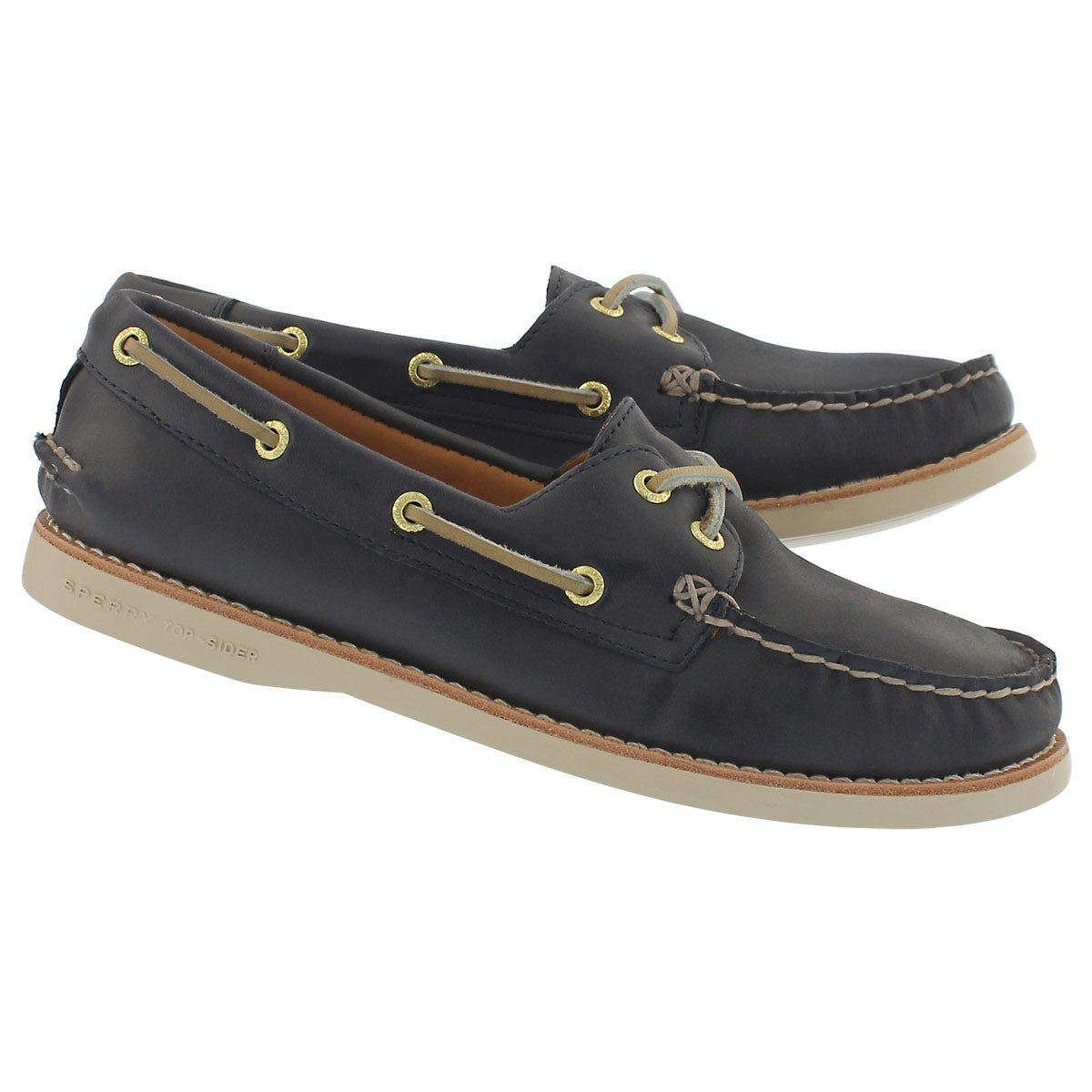 Lds Gold Cup A/O navy boat shoe