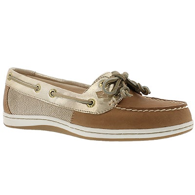 Sperry Chaussures bateau FIREFISH, lin/or, femmes