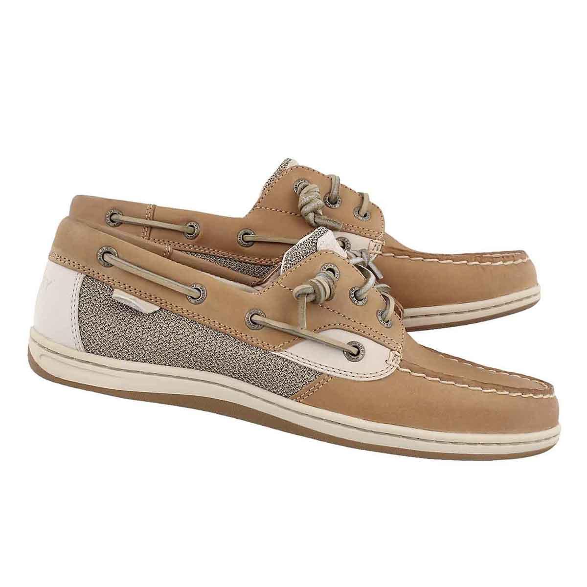 Lds Songfish linen/oat boat shoe
