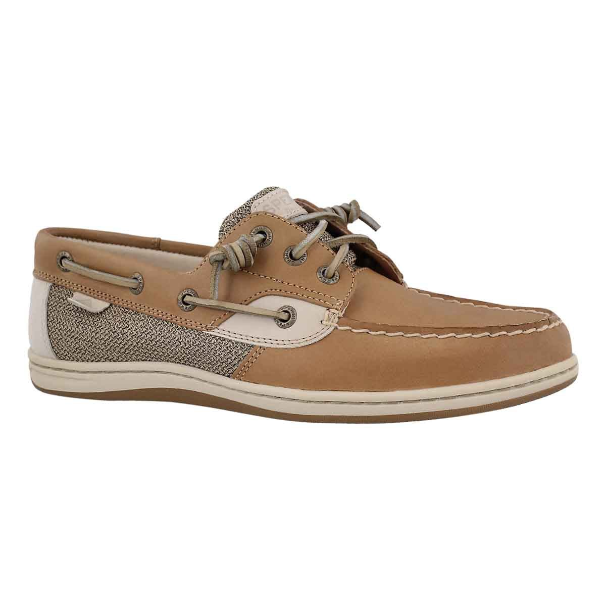 Women's SONGFISH linen/oat boat shoes