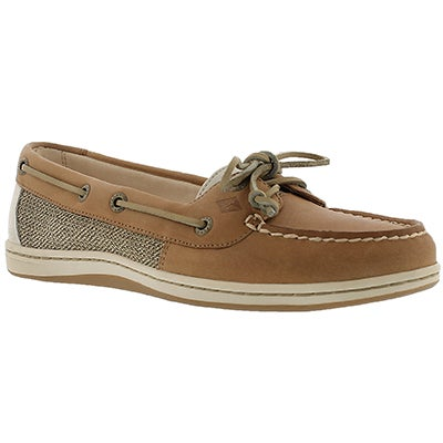 Sperry Women's FIREFISH linen/oat 2-Eye boat shoes
