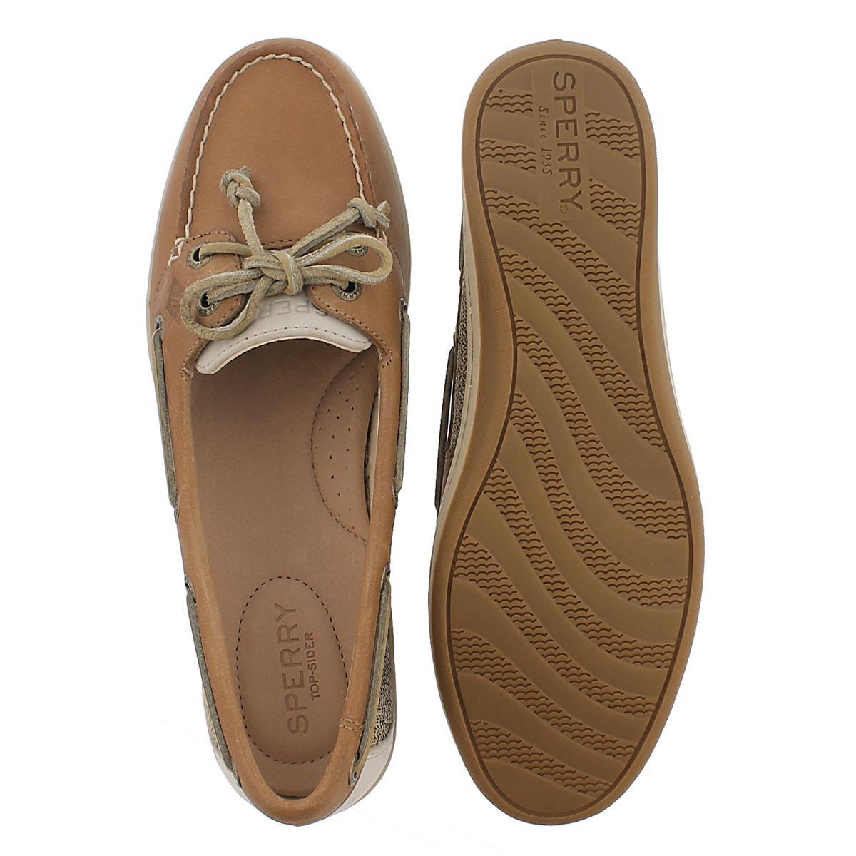 Lds Firefish linen/oat 2 Eye boat shoe