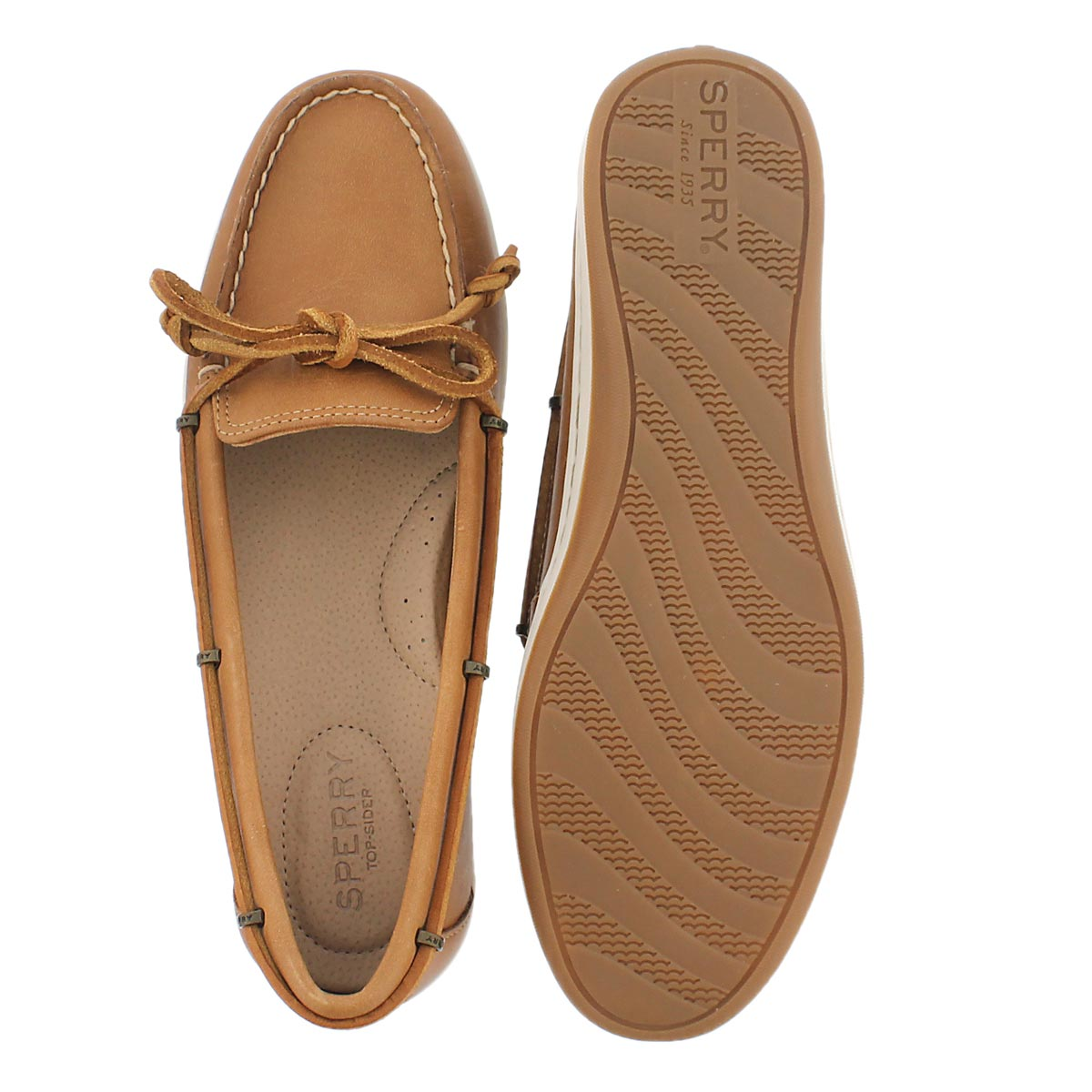 Lds Jewelfish Custom Lace tan boat shoe