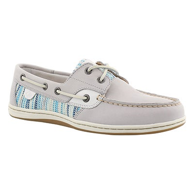Sperry Women's KOIFISH RAFFIA STRIPE grey boat shoes