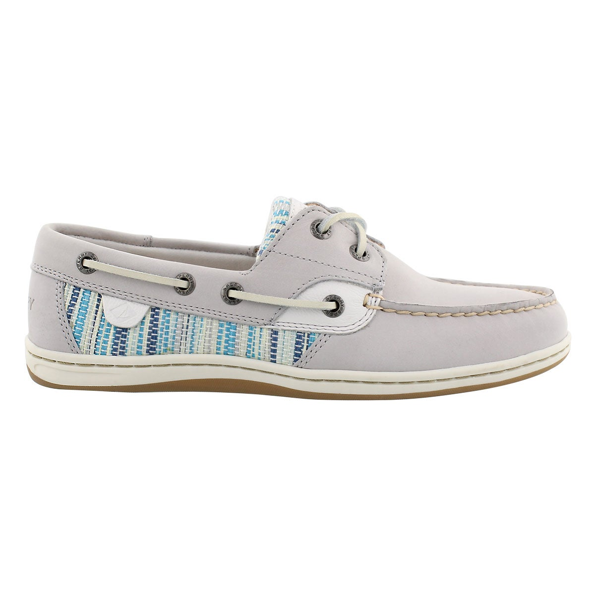 Lds Koifish Raffia Stripe grey boat shoe