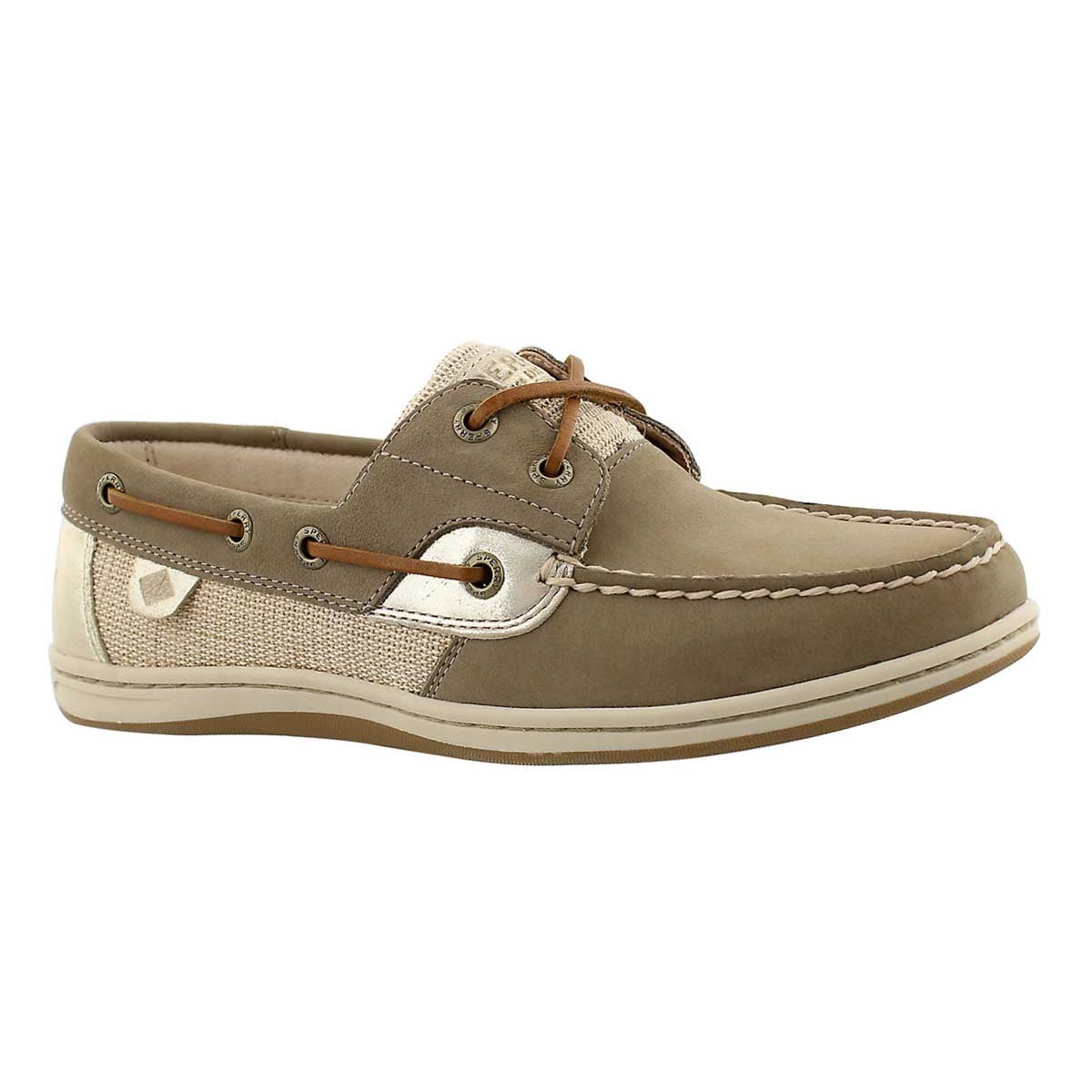 Women's KOIFISH Metallic taupe boat shoes