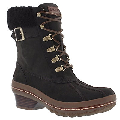 Sperry Women's GOLD CUP AVA blk waterproof ankle boots