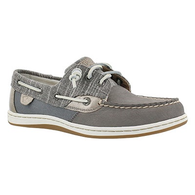 Sperry Women's SONGFISH METALLIC SPARKLE grey shoes