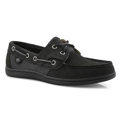 Lds Koifish black boat shoe