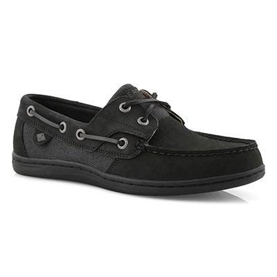 Chaussure bateau Koifish, noir, fem.