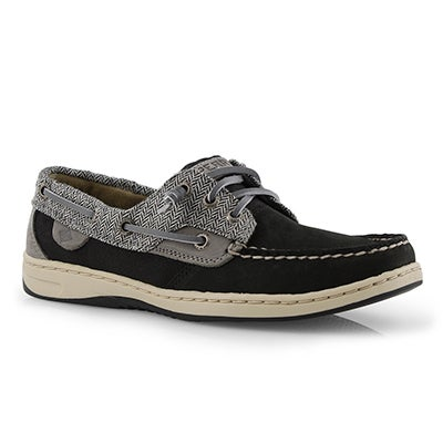 Lds Rosefish blk/dk gry boat shoe