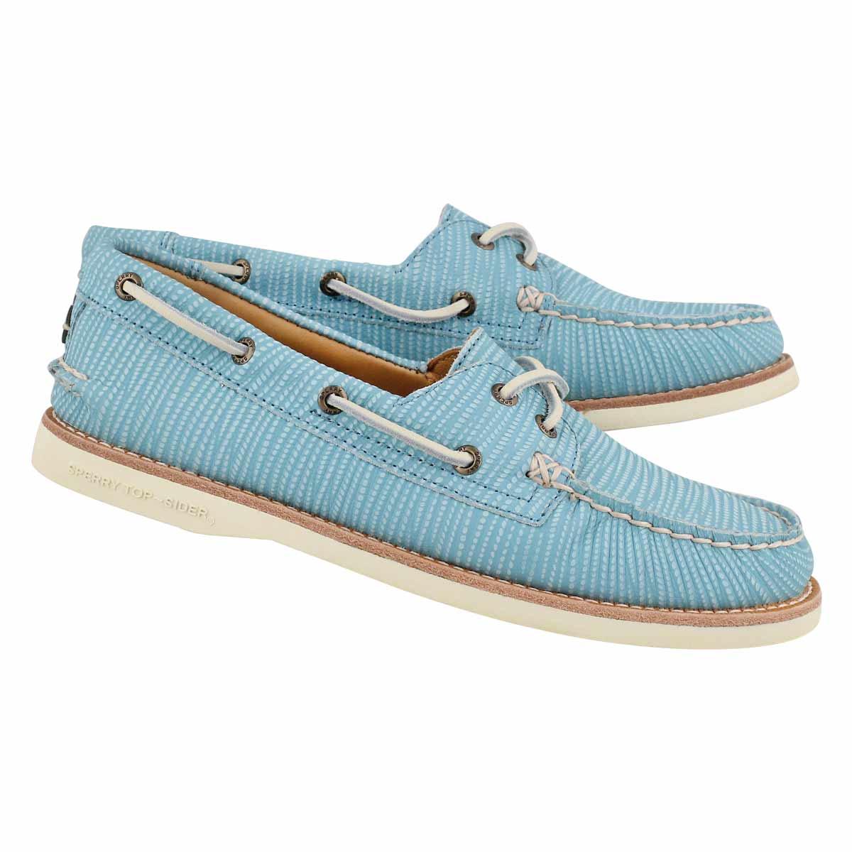 Lds Gold Cup A/O aqua boat shoe
