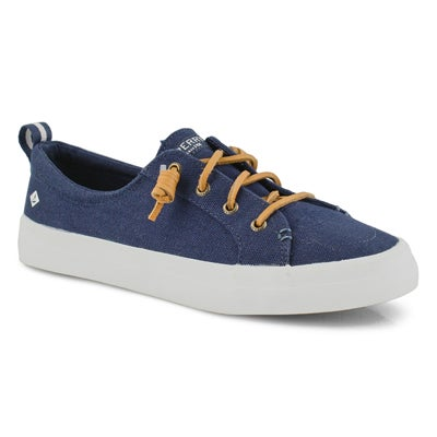 Lds Crest Vibe Linen nvy fashion sneaker
