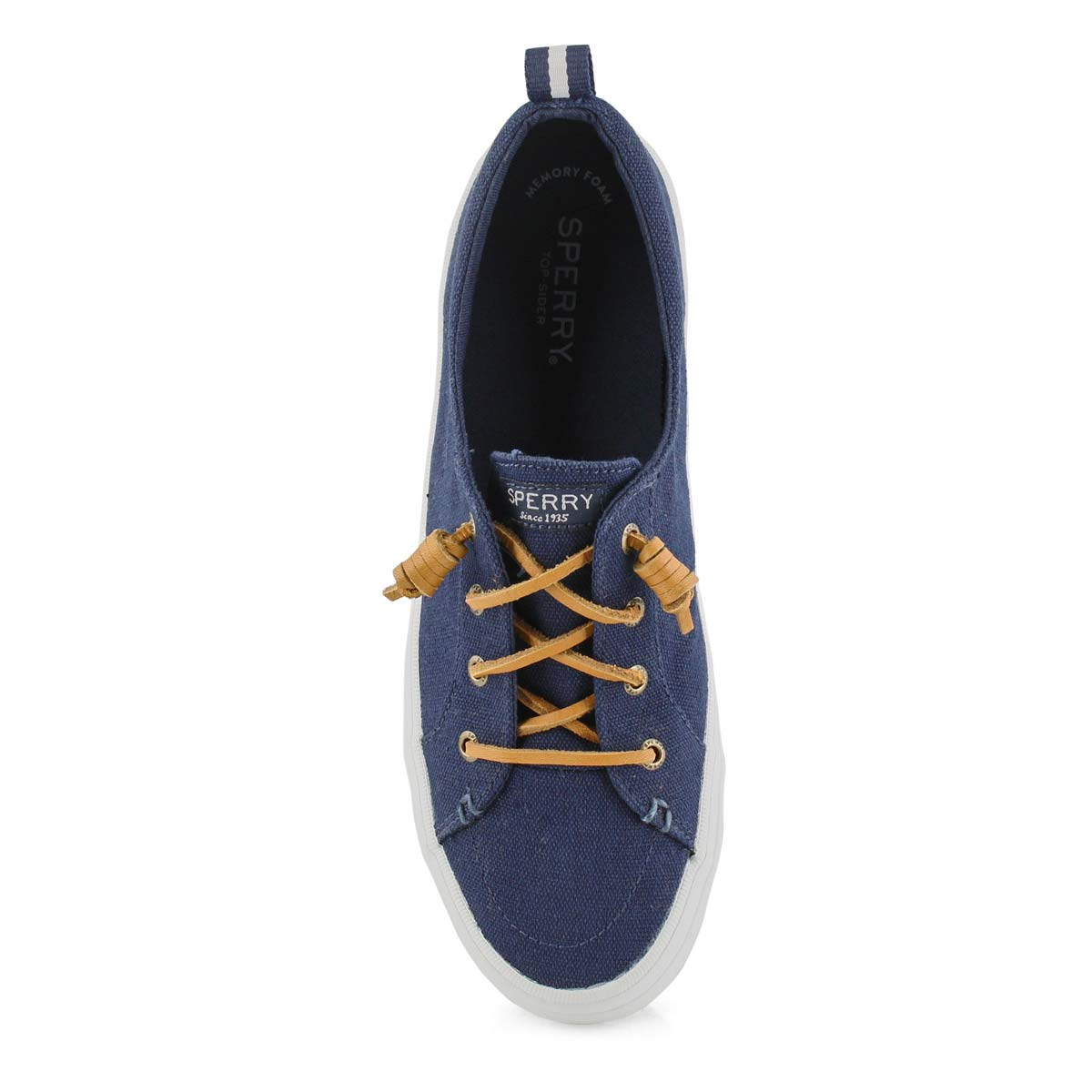 Women's CREST VIBE LINEN navy fashion sneakers