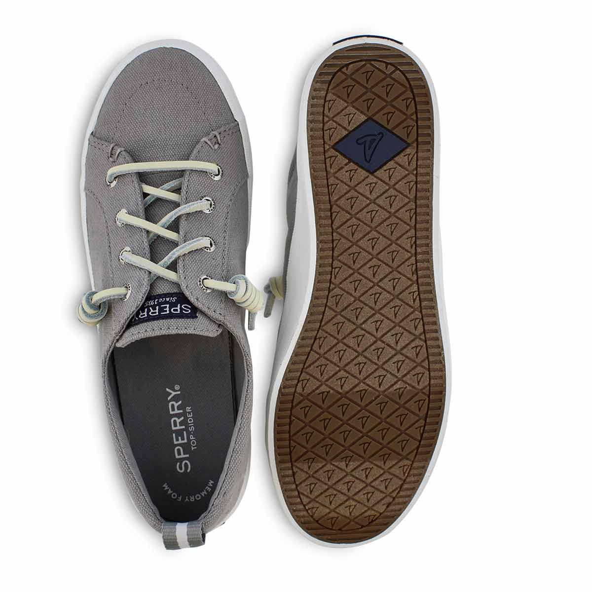Lds Crest Vibe Linen gry fashion sneaker