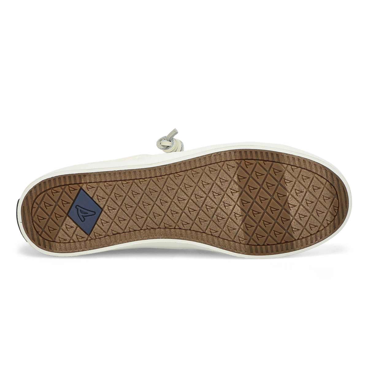 Lds Crest Vibe Linen wht fashion sneaker