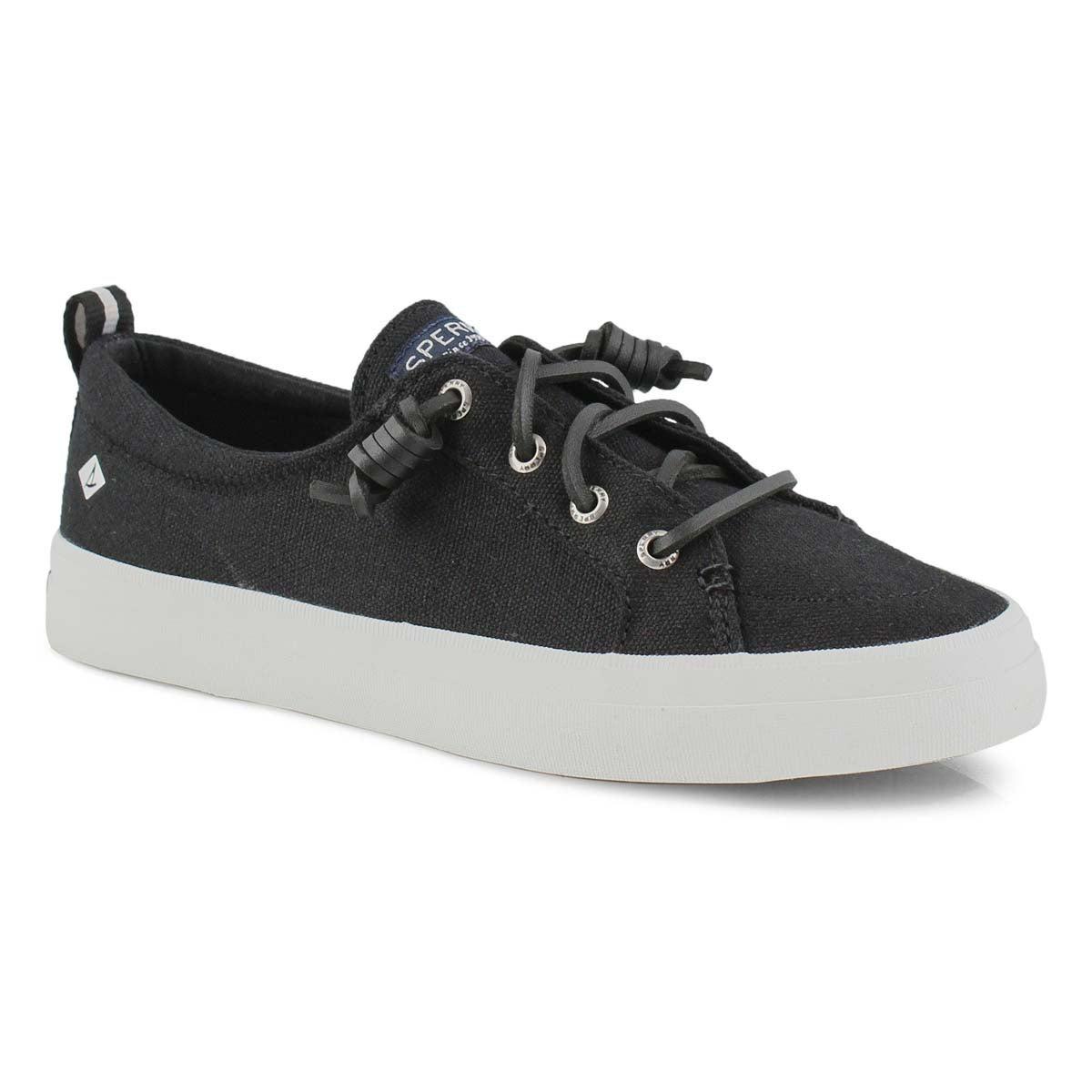 Lds Crest Vibe Linen blk fashion sneaker