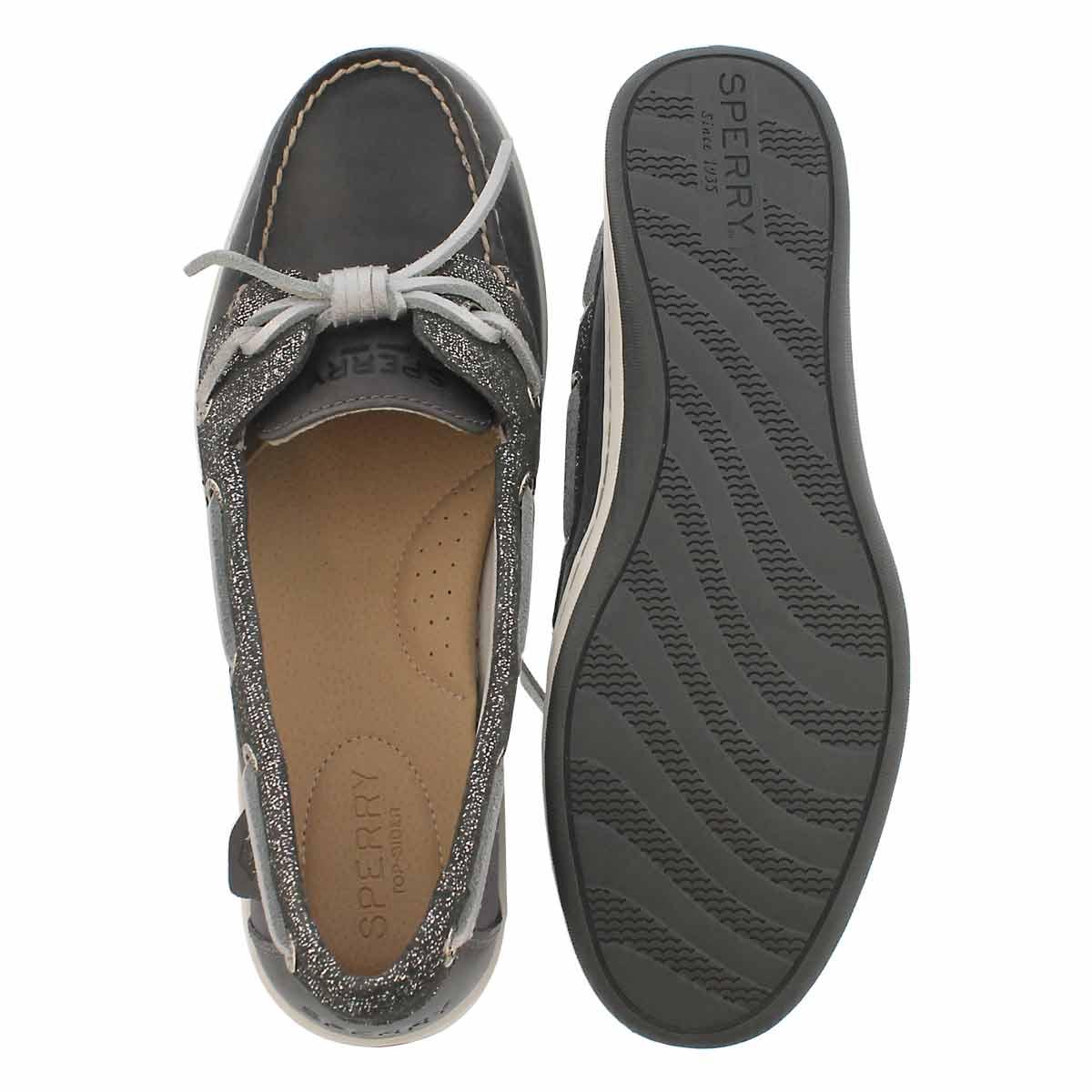 Lds Barrel Fish 2-eye ashphalt boat shoe