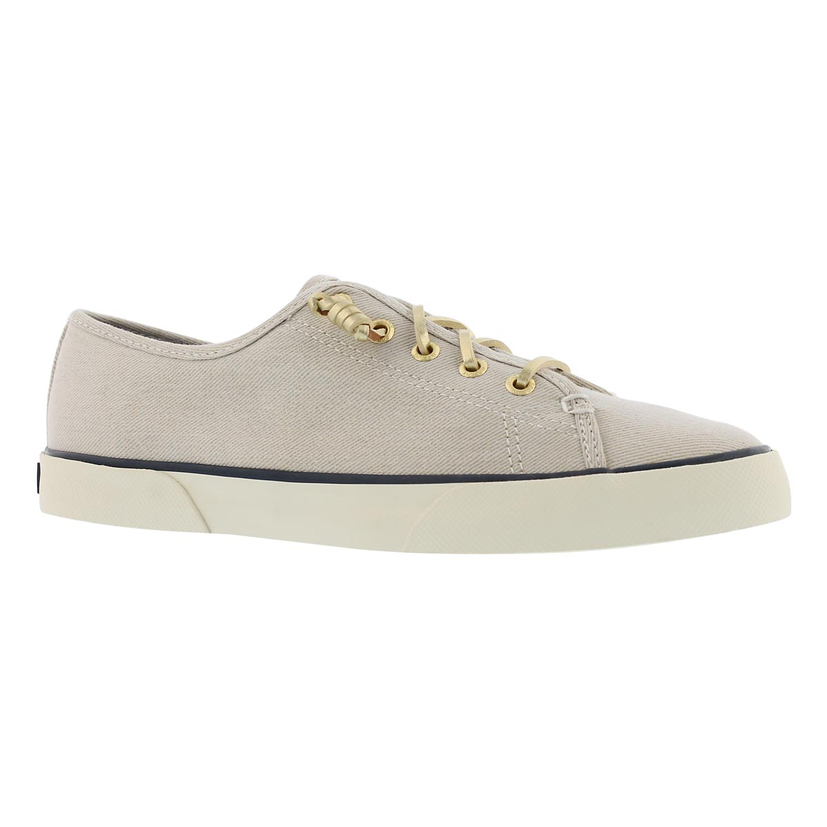 Women's PIER VIEW SPARKLE white/gold sneakers