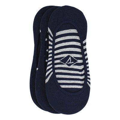 Sperry Women's STRIPES & DOTS  navy liners- 3pk
