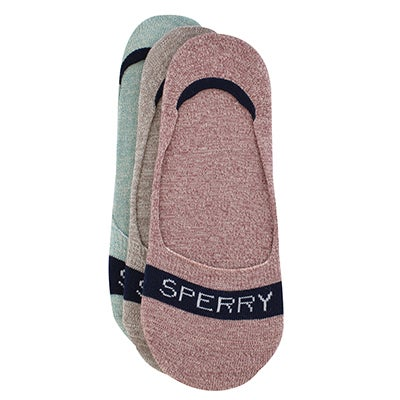 Sperry Women's MARL pink/taupe/green liners - 3 pack