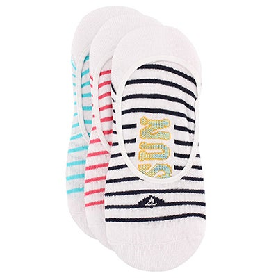 Lds Breton Striped navy liner - 3 pack