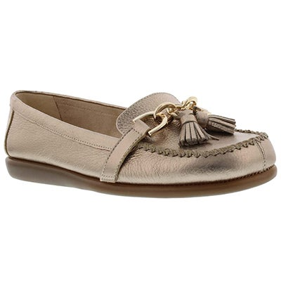 Aerosoles Women's SUPER SOFT gold leather slip-on loafers