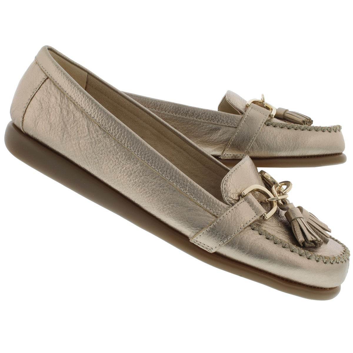 Lds Super Soft gold leather loafer