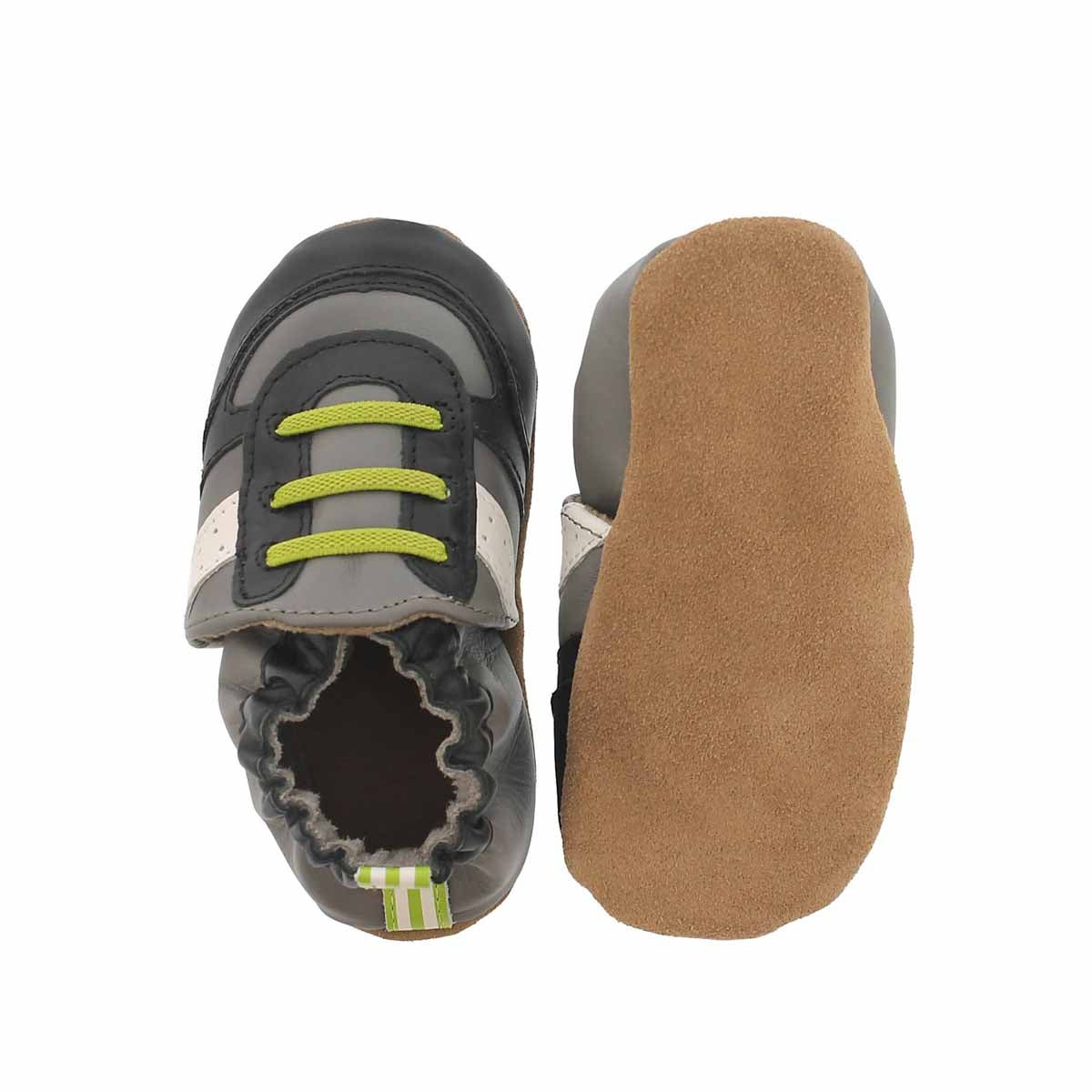 Infs-b Super Sporty gry/lime slipper
