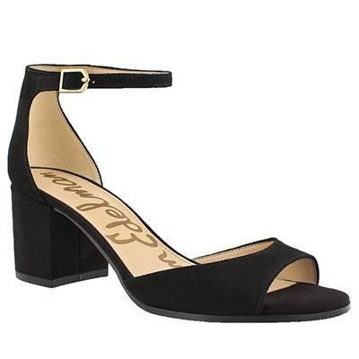 Lds Susie black ankle strap dress sandal