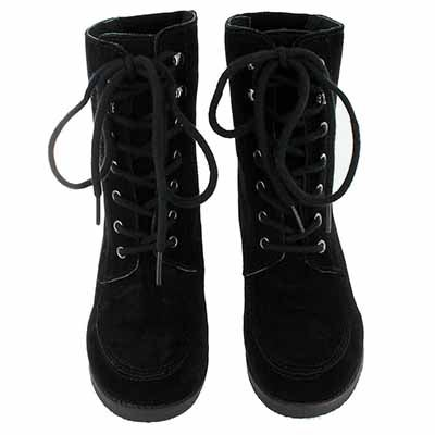 SoftMoc Women's SUZIE black lace up suede ankle boots