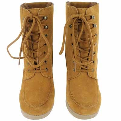 SoftMoc Women's SUZIE hazelnut lace up suede ankle boots