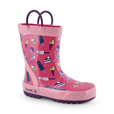 Grls Sweets pink rain boot