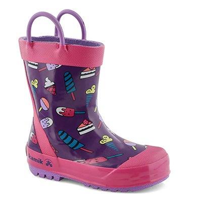 Grls Sweets purple rain boot