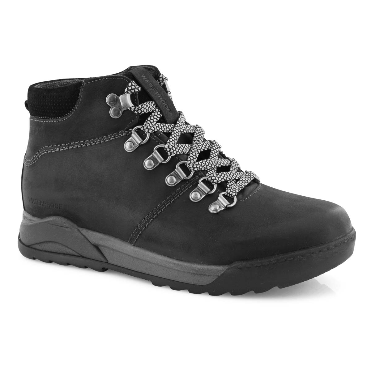 Lds Swerve blk wtpf lace up ankle boot