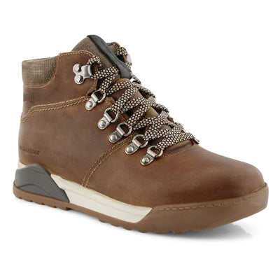 Lds Swerve camel wtp lace up ankle boot