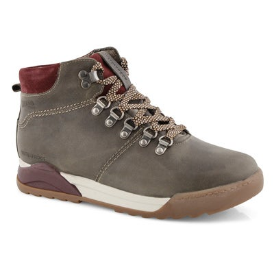 Lds Swerve taupe wtp lace up ankle boot