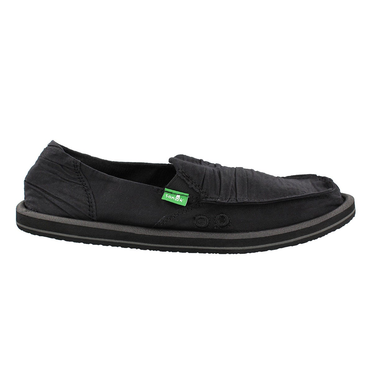 Lds Shuffle black slip on shoe
