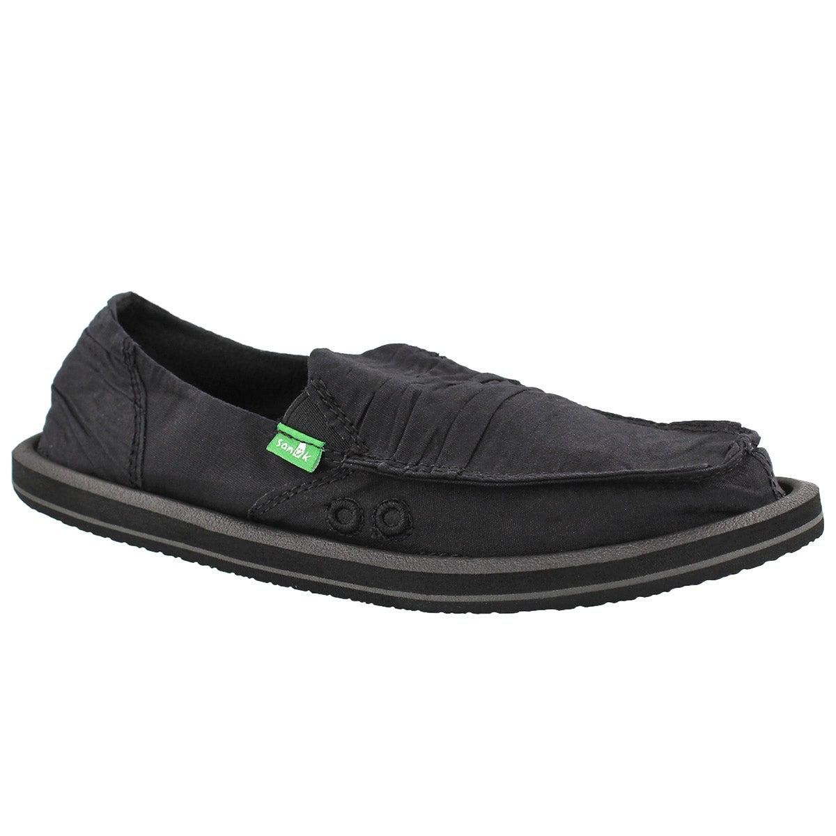 Women's SHUFFLE black slip on shoes