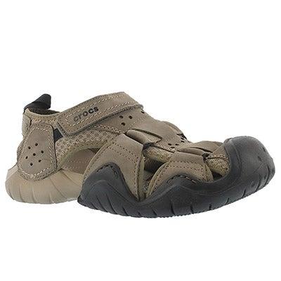 Crocs Men's SWIFTWATER walnut fisherman sandals