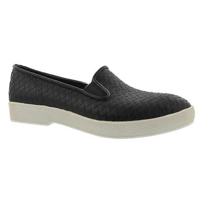 Lds Swoon black waterproof slip on shoe